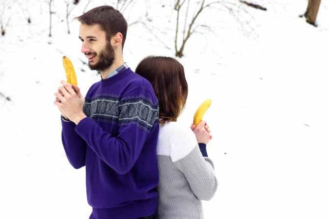 adults bananas casual facial expression